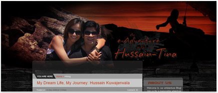 Hussain and Tina Blog